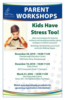 Kids Have Stress Too! Parent Workshops